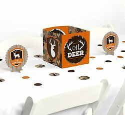 Gone Hunting - Deer Hunting Camo Baby Shower Or Birthday Party Centerpiece And