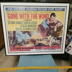 Vtg Large Original 1954 Gone With The Wind Movie Poster Lowes Inc R54/204