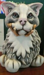 Harmony Kingdom A Bird in the Hand Cat Perfect condition. Free Shipping