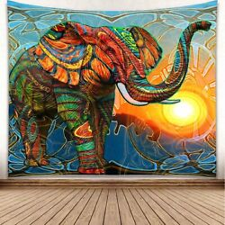 """Tapestry """"Trippy Elephant"""" Queen Bed Width 60"""" x 51"""""""