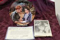 Gone With The Wind Plate Bradford Exchange Scarlet And Ashley After The War