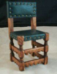 Dollhouse Artisan Michael Mortimer 16th Century Leather Seat/back Chair 1 Mint