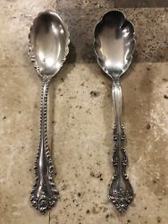 1 Antique Sterling Silver Carter Bros. And 1 Antique Silver-plated Jelly Spoon