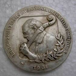 Israel-third Pablo Casals Violincello Competition-sterling Silver Medal 110 Gram
