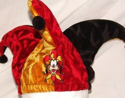 Disney Goofyand039s Jester Cap The Mad Hatter Mardi Gras Cos Play Land World Fits All