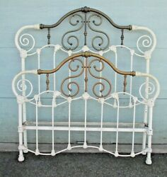 Brass And Iron Antique Bed // We Can Help Arrange Delivery Message Me For Price