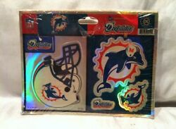 Vintage 2000 Nfl Logo Stickers Miami Dolphins Football Decals By Sticker Magic
