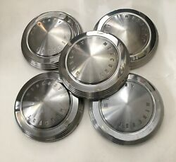Vintage 1962-1963 Mercury Meteor Monterey Hubcaps 14 Inch Set Of 5 - Nos And Used