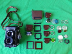 Rolleiflex Rollei T Tlr Camera Zeiss Tessar 75mm F3.5 Germany Mint + Extras Wow