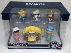 Peanuts Nativity Figures Deluxe Set From Paper To Platinum 70 Years Edition New
