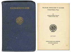 Wwii Us Navy Watch Officer's Guide From 1941