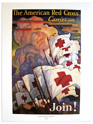 The American Red Cross Carries On Join Vintage Poster