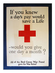 Original Wwi American Red Cross Poster From 1918