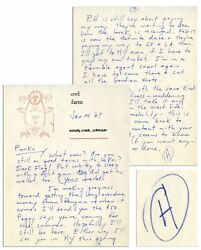 Hunter S. Thompson Autograph Letter Signed From 1967
