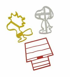 Peanuts Snoopy, Woodstock And Doghouse Cookie Cutters 3 Pack