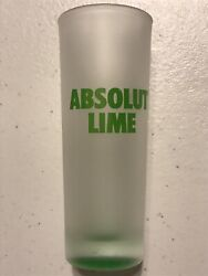 Absolut Lime Shot Glasses Frosted Vodka 10 Shooter Shot Glass Lot Of 10 New