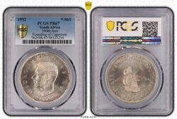 South Africa 1952 Proof 5 Shillings Pcgs Pr67 300th Ann Founding Of Capetown