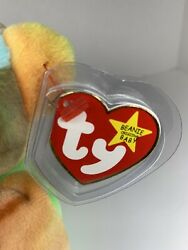 Ty Beanie Baby Peace Bear 1996 Retired Mint Condition With Rare Tag Errors
