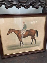 Currier And Ives Miss Woodford 1884 Print Horse And Jockey