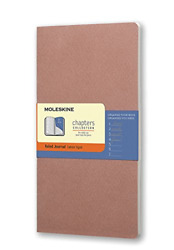 Moleskine Chapters Journal Slim Large Ruled Old Rose Soft Cover 4.5 X 8....