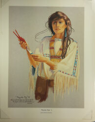 Peyote Fan 1 - Signed And Numbered Limited Edition Print Of Native American Woma