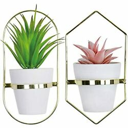Tiita Ceramic Hanging Planter Wall Planters Set Of 2 Modern Flower Pots For Herb