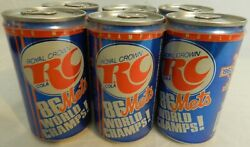 1986 Ny Mets World Series Champions - Baseball Rc Cola 6 Pack Cans Sealed W/soda