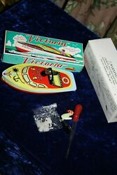 Victoria Steam Powered Engine Tin Toy Boat Schylling Science Experiment Ready