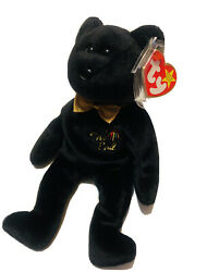 The End Bear 1999 Beanie Baby Ty Retired Rare Tag Errors Tag Protecter