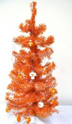 Tennessee Vols Orange And White 2' Christmas Tree W/12 Assorted Football Ornaments