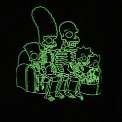 Vintage The Simpsons Skeleton Glow In The Dark T Shirt Size Large Rare