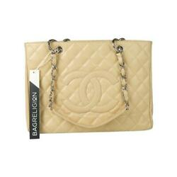 Beige Caviar Gst In Caviar Leather With Shw