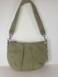 New Universal Thread Hobo Green Faux Suede Crossbody Bag Purse Olive Green $9.50