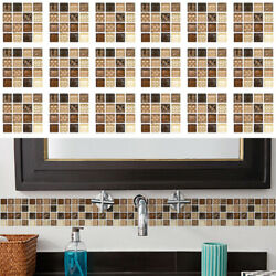 18pcs Mosaic Self adhesive Bathroom Kitchen Decor Home Wall 3D Tile Stickers LM2