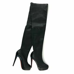 Christian Louboutin Thigh High Leather Boots Size 36.5