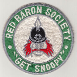 Wartime USAF RED BARON SOCIETY quot;GET SNOOPYquot; Patch 330