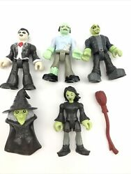 Fisher Price Imaginext 4 Monsters For Mad Scientist Lab Dracula Zombie Witch