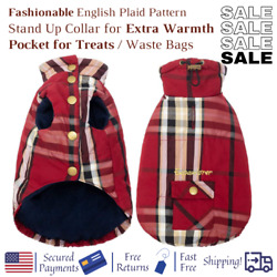 Cold Weather Coat for Dogs Winter Windproof Stylish for Small Med Large Breeds $22.34