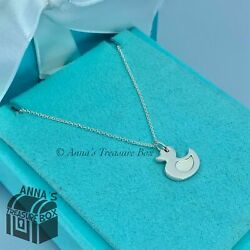 """And Co. 925 Silver Lucky Duck Charm 16"""" Necklace Pouch"""