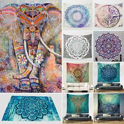 Indian Mandala Hippie Tapestry Blanket Wall Hanging Bedspread Throw Home Decor