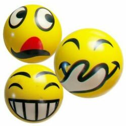 3 PACK FUN EMOJI EMOTICON 3 SQUEEZE BALLS Stress Ball Reliever Fun Cool Gift Toy $6.00