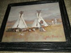 Great Oil Painting Signed By Famous Idaho Artist John Horejs