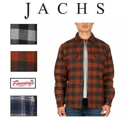 Sale Jachs Menandrsquos Wool Blend Shirt Jacket Variety Size And Color Free Shipping H31