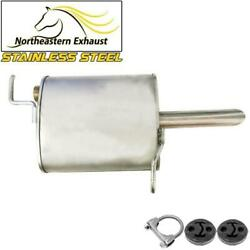 Stainless Steel Exhaust Muffler Tail Pipe With Hangers Fit 2004-08 Chevy Malibu