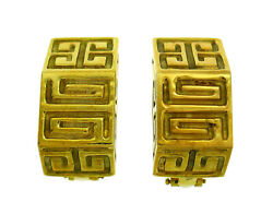 Vintage Wander Yellow Gold Earrings France Clip-on 1980s