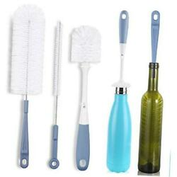 Bottle Cleaning Brush Set - Long Water Bottle And Straw Cleaning Brush -