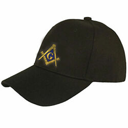 Masonic Hat On Black 20+ Embroidered Logos To Choose From For Most Orders