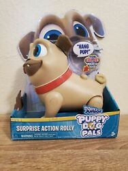 Disney Junior Puppy Dog Pals Surprise Action Rolly-walks And Talks-ships Free