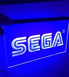 SEGA Arcade LED Sign for Game RoomOfficeBarMan Cave Business Dorm Room New