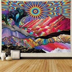 Art Psychedelic Mandala Tapestry Abstract Landscape Room Wall Hanging Throw